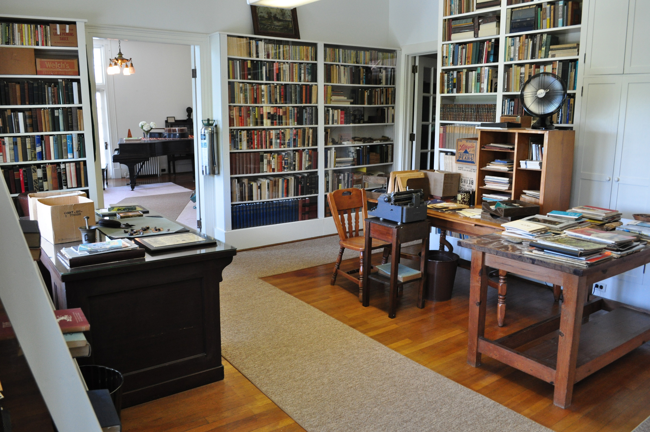 Carl Sandburg's study at the Carl Sandburg Home National Historic Site