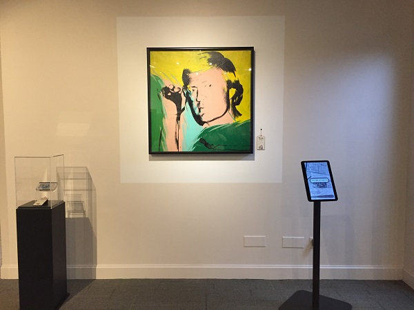 Jack Nicklaus portrait on display