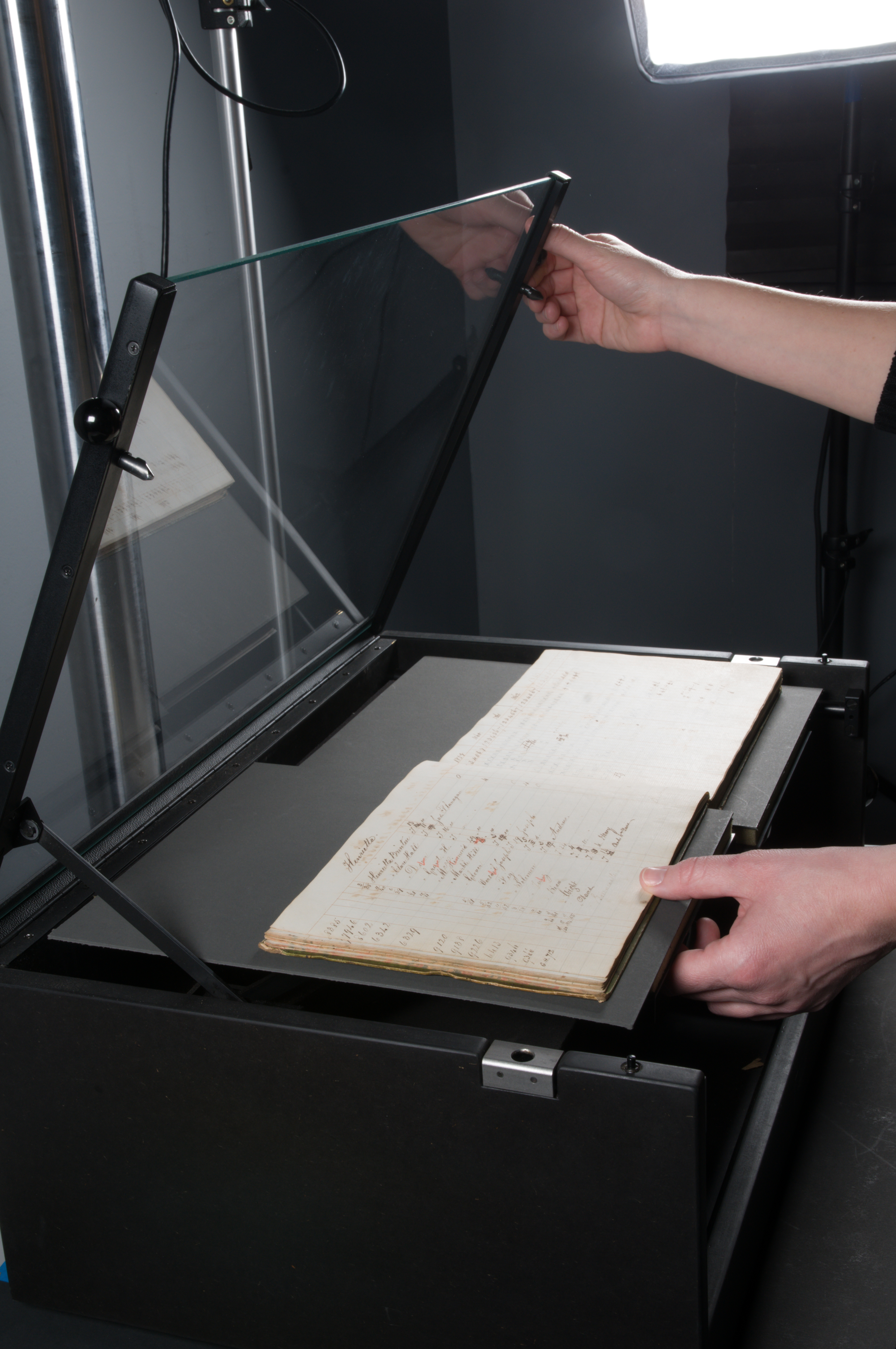 Moravian Archives book on cradle