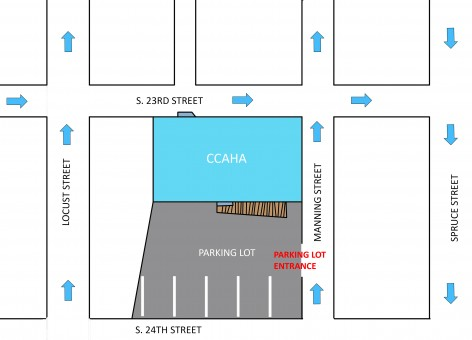 Map of CCAHA parking lot