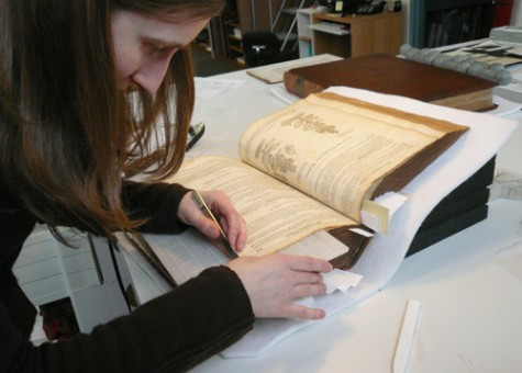 Conservator trims mends to volume