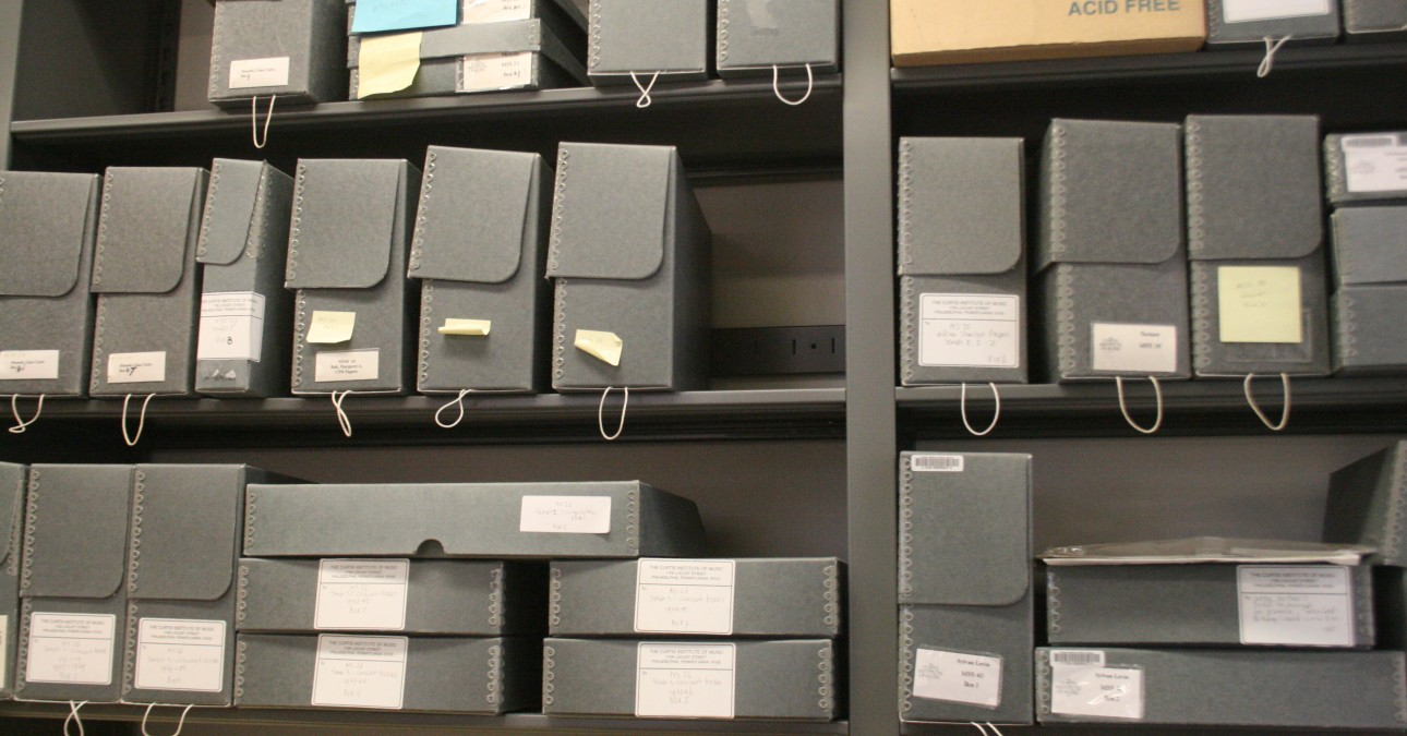Archival boxes from a Preservation Needs Assessment