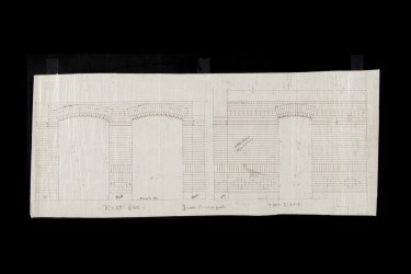 Frank Furness architectural drawing