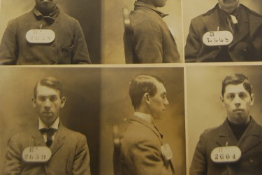 Photo of page of mug shot book